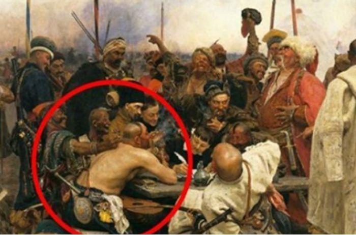 На картине Репина «Запорожцы» обнаружили удивительную деталь